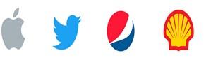 Apple, Twitter, Pepsi, Shell Logo